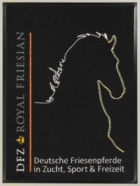 Große DFZ Logo-Matte - ca. 85 x 115 cm - Die Wetterfeste